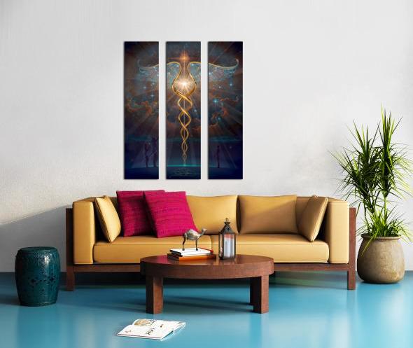 Heroes of the Healing Arts Split Canvas print