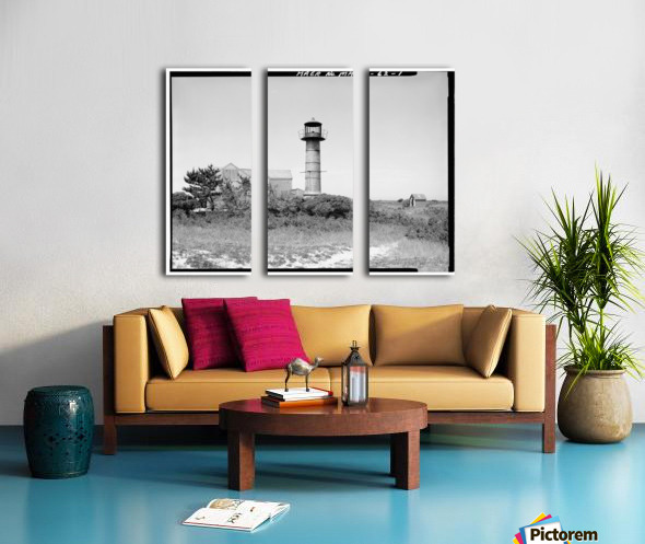 Monomoy-Point-Light-Station-Mass Split Canvas print