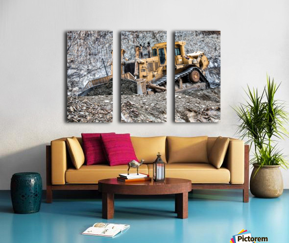 Earth Mover Split Canvas print
