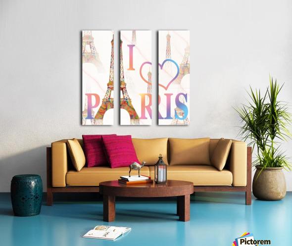 I LOVE PARIS Split Canvas print