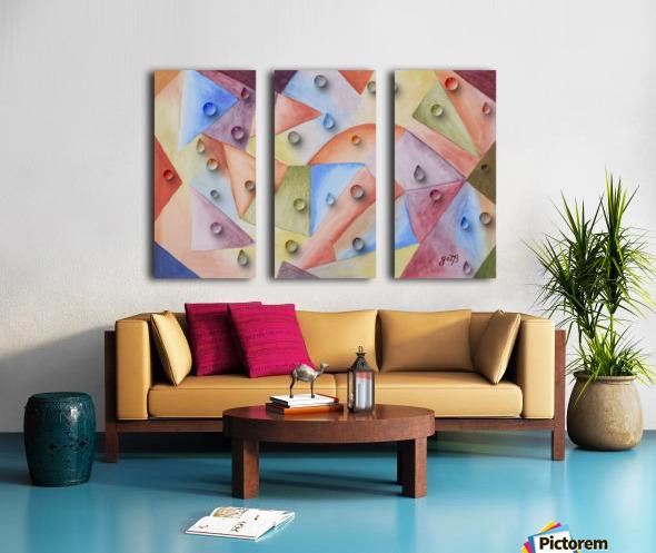 Rainbow Water Drops Split Canvas print