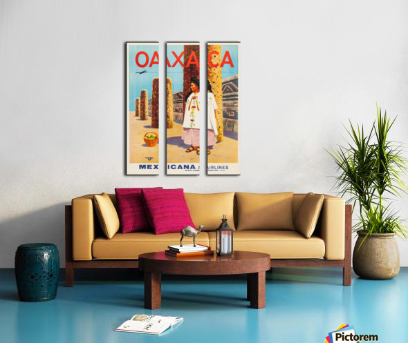 Mexicana Airlines Oaxaca travel poster Split Canvas print