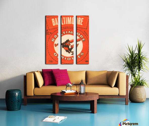 1969 Baltimore Orioles Fleer Cloth Patch Art | Row 1 Split Canvas print