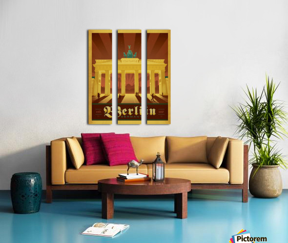 Berlin Germany travel poster Split Canvas print