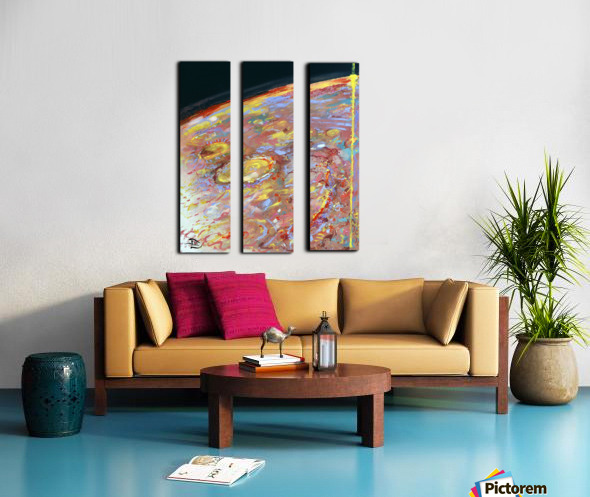 Worlds First Martianpressionist Painting Split Canvas print
