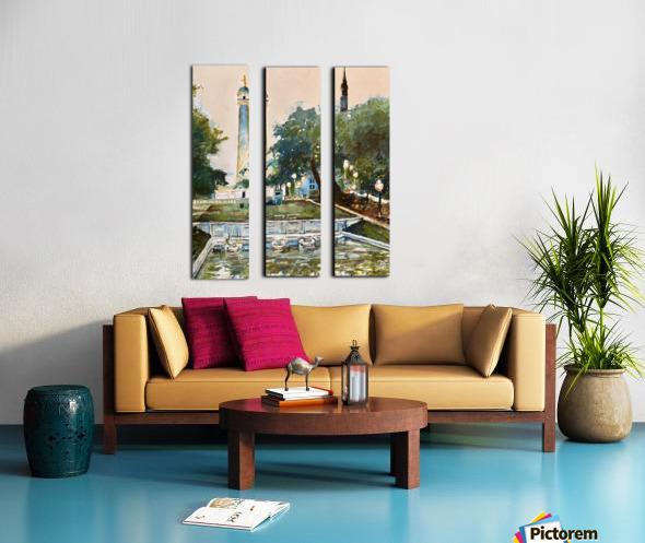 Mt Vernon Baltimore Split Canvas print