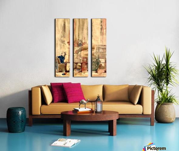 Dining Room Deconstructed  Split Canvas print