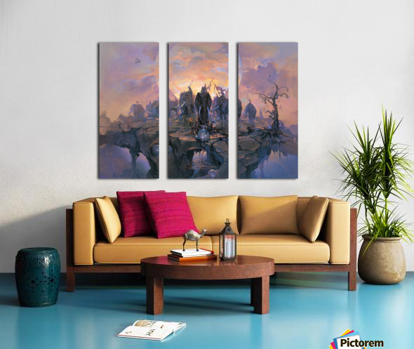 In the Company of Giants Split Canvas print