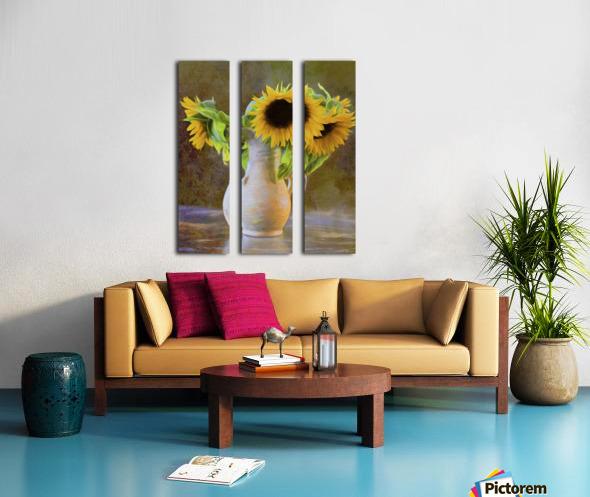 It's What Sunflowers Do - Flower Art by Jordan Blackstone Split Canvas print