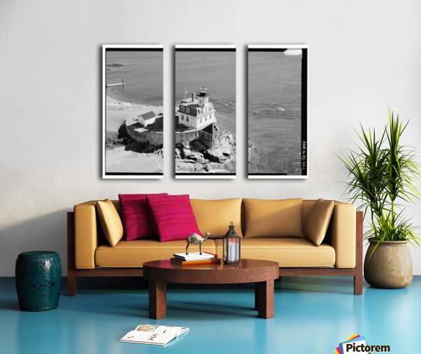 Rose-Island-Lighthouse-Rhode-Island Split Canvas print
