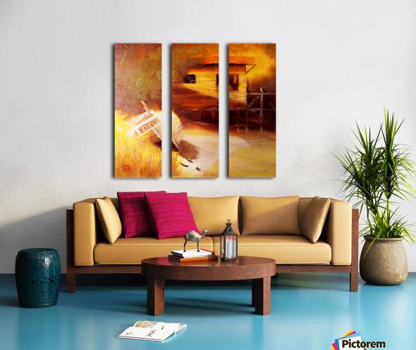 Whiskey Slough  Split Canvas print