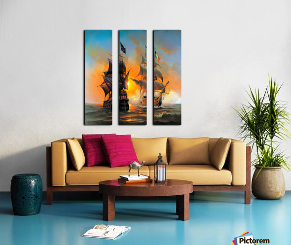 Marauders of the Sea Split Canvas print