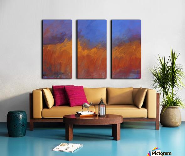 Orange and Blue Landscape Split Canvas print