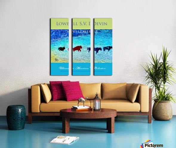 Devin Wildlife UAC Show Poster Split Canvas print