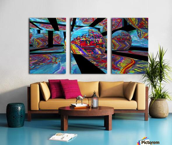 EXTREME Roller Coaster RoomXpander tm Tracking Art Split Canvas print