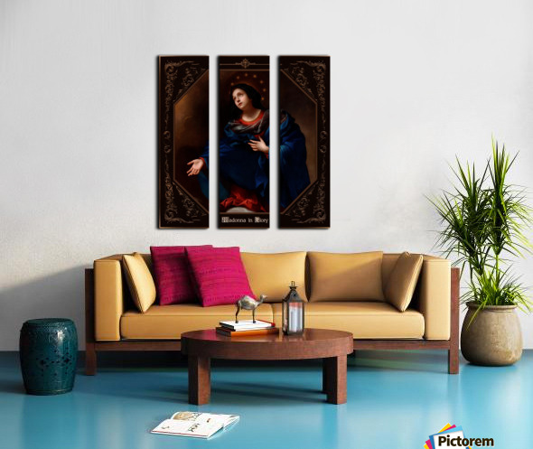 Madonna in Glory by Carlo Dolci Classical Art Xzendor7 Old Masters Reproductions Split Canvas print