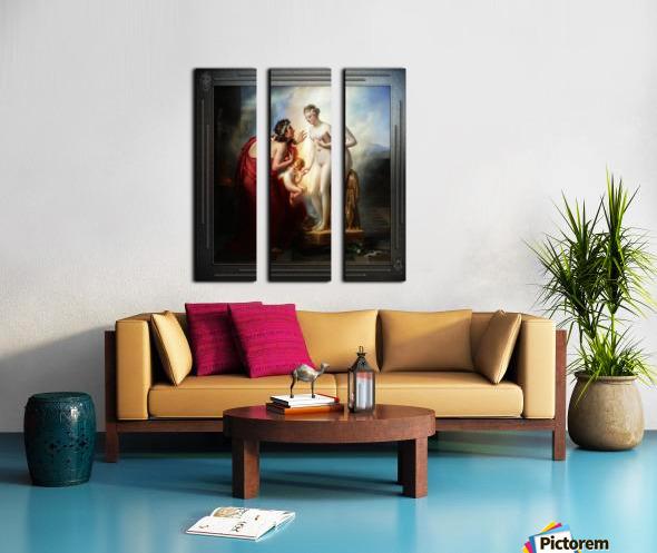 Pygmalion et Galatee byAnne-Louis Girodet-Trioson Classical Fine Art Xzendor7 Old Masters Reproductions Split Canvas print