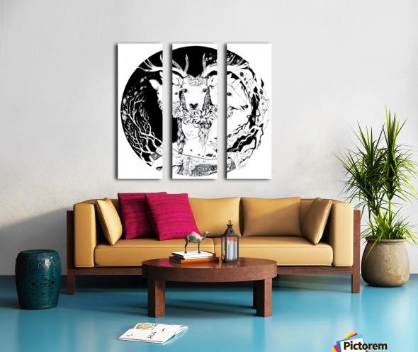 Charpatian Soul Split Canvas print