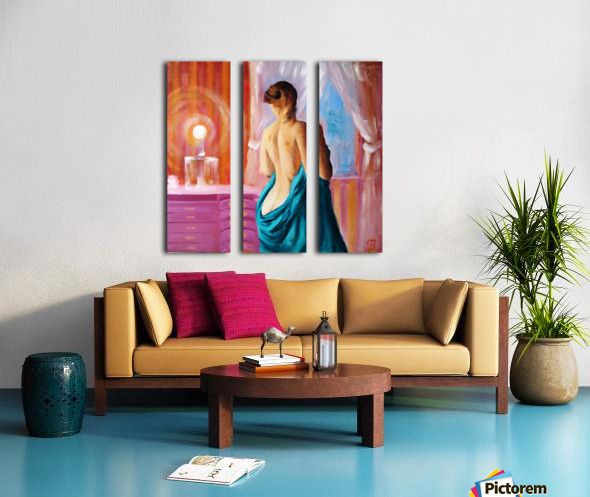 Magic light  Split Canvas print