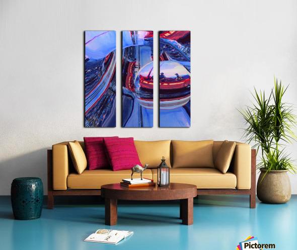 Romantic River Escape  Split Canvas print