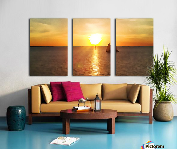 Pierce Anderson Sail Boats Art Split Canvas print