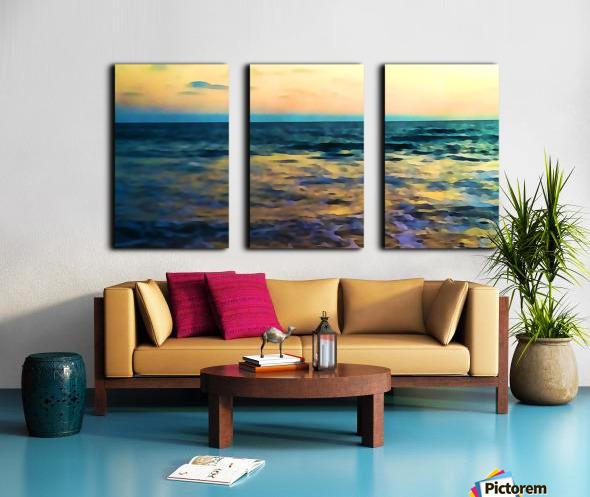 Manhattan Beach Beauty Split Canvas print