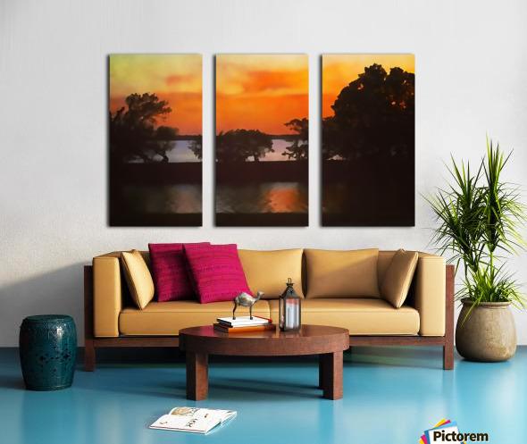 Tranquil Sunset Split Canvas print