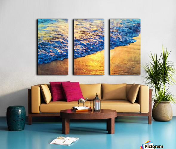 Manhattan Beach Water Split Canvas print