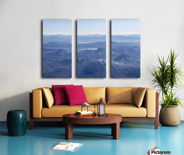 Window Plane View of Andes Mountains Split Canvas print
