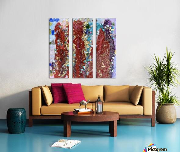 Rained Confetti  Split Canvas print