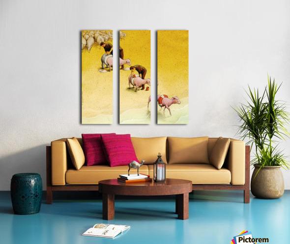 Sheep Split Canvas print