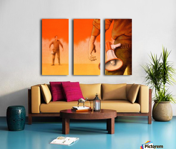 Duel Split Canvas print