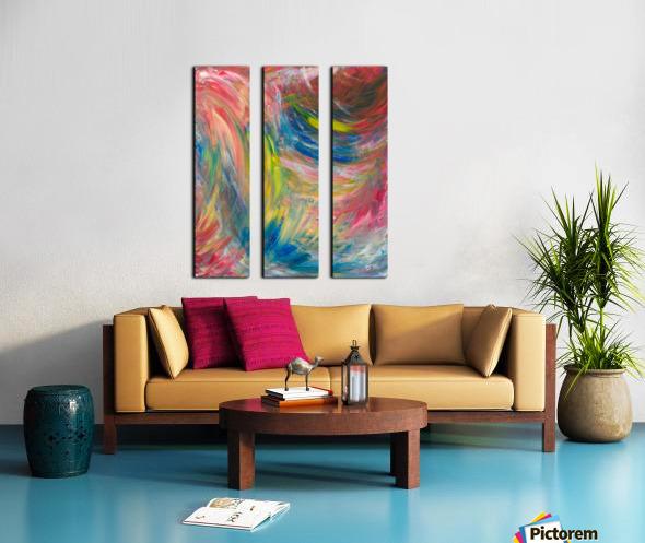 Happy Split Canvas print