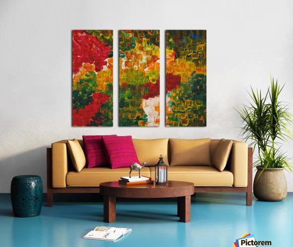 Mixed Feelings Split Canvas print