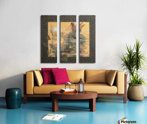 Alexandre-de-Riquer---Winged-nymph-at-sunrise Split Canvas print