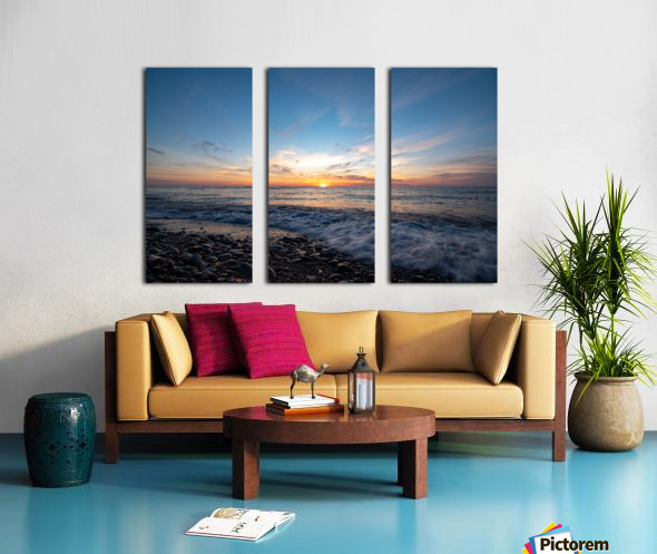 Washed by a Sunset Split Canvas print