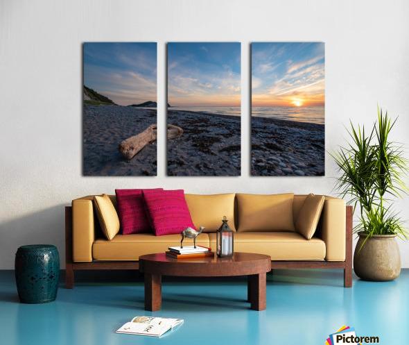 Seaside Sunset Split Canvas print