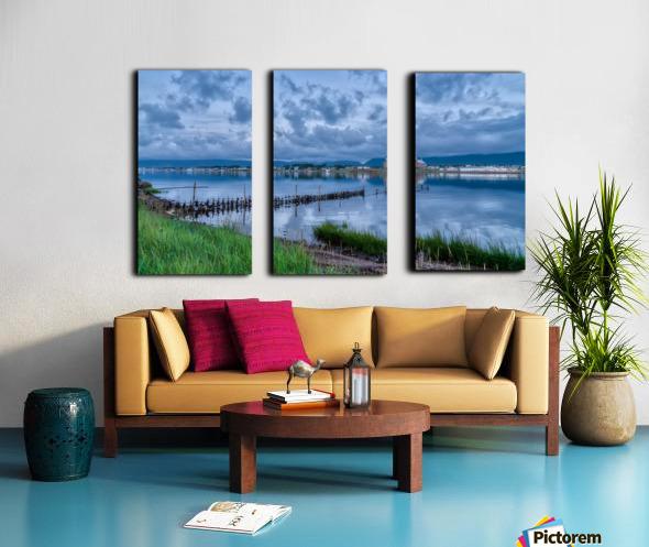 Cheticamp Harbour Split Canvas print