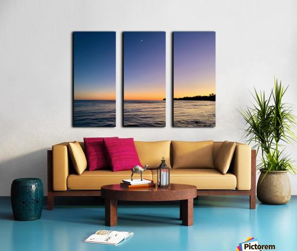 Sunset Moon - Malibu CA Split Canvas print