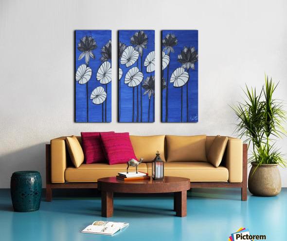 Black Lotus Split Canvas print