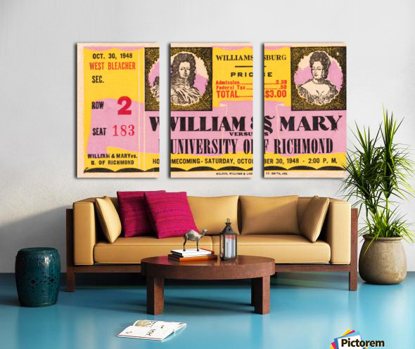 1948 William and Mary vs. Richmond Split Canvas print