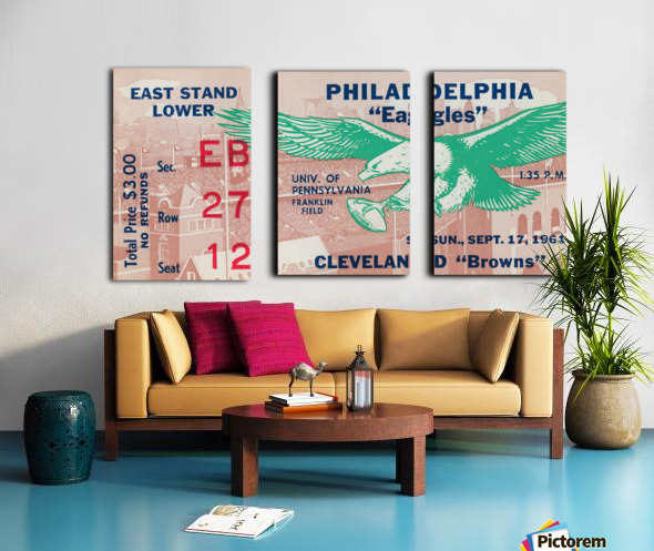 1961 Philadelphia Eagles vs. Cleveland Browns  Split Canvas print