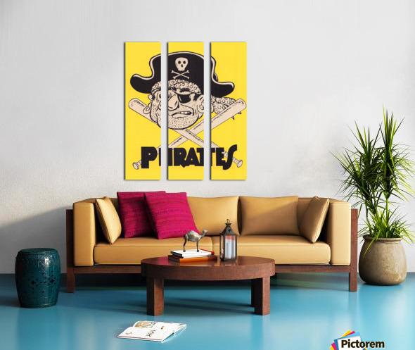 Vintage Sixties Pittsburgh Pirates Art Split Canvas print