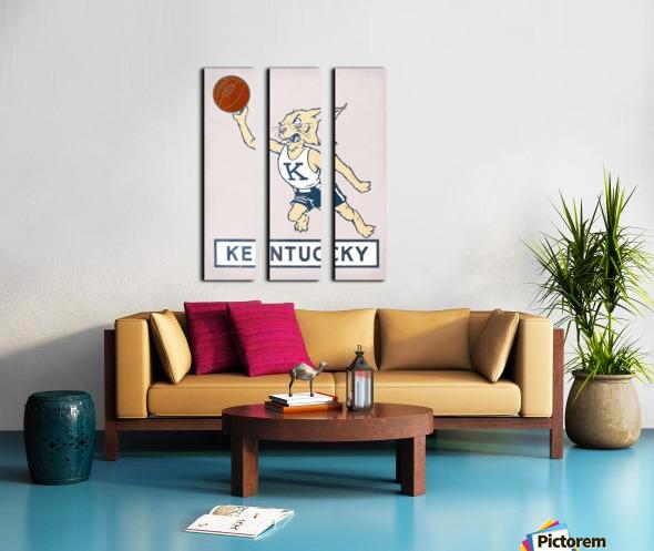 Vintage Kentucky Wildcat Basketball Art Split Canvas print