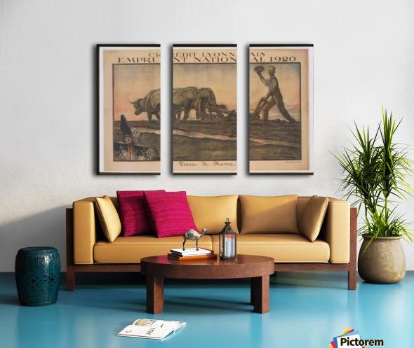 Vintage---Credit-Lyonnais Split Canvas print