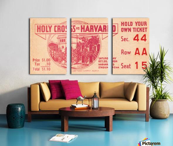 1934 Holy Cross vs. Harvard Split Canvas print