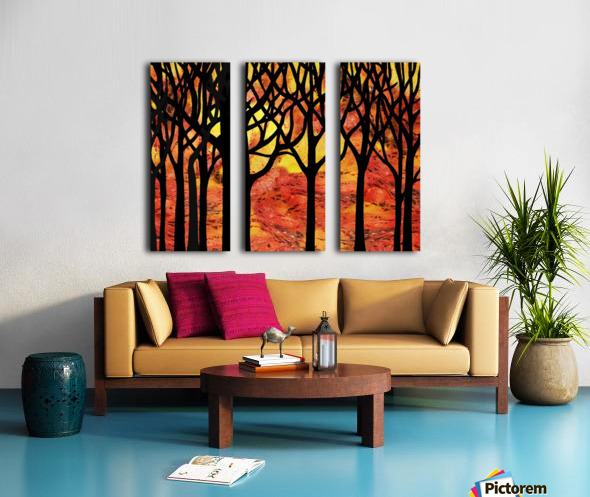 Abstract Fall Forest Split Canvas print