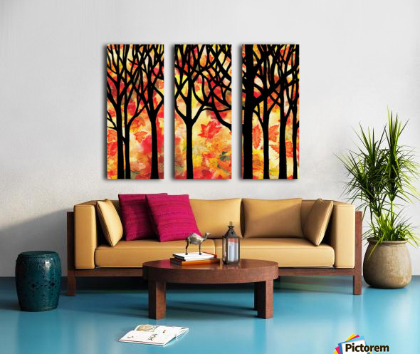 Fall In The Forest Split Canvas print