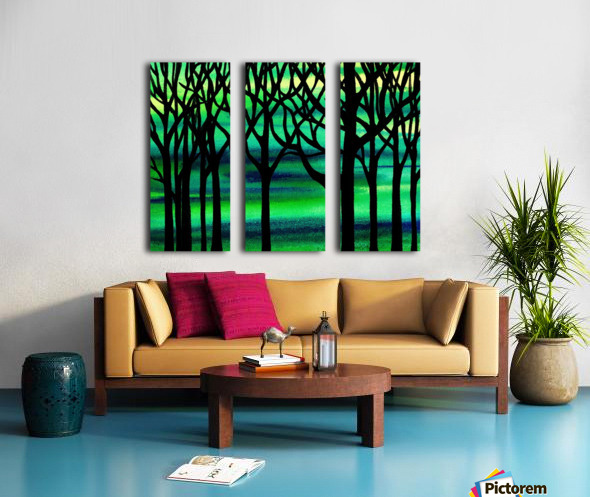 Abstract Spring Forest Split Canvas print