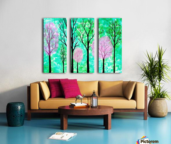 Spring Forest Split Canvas print